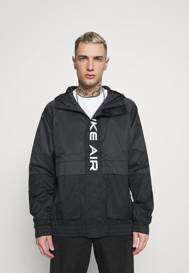 AIR  - Waterproof jacket - black/dark smoke grey/white