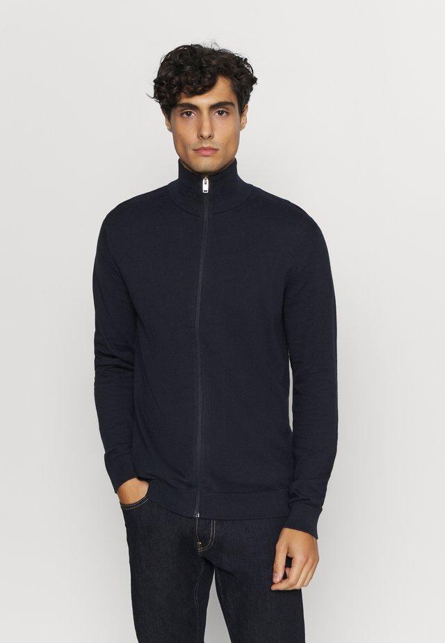 SLHBERG FULL ZIP  - Cardigan - navy blazer