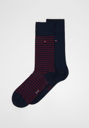 MEN SMALL STRIPE SOCK 2 PACK - Socks - dark blue/red