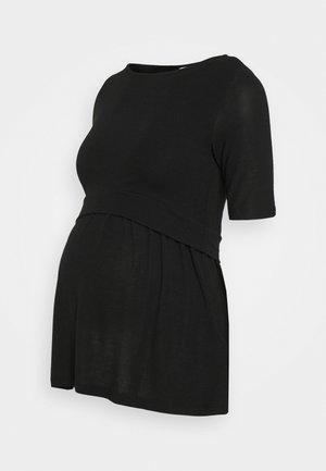 MLANABEL JUNE - Jednoduché triko - black