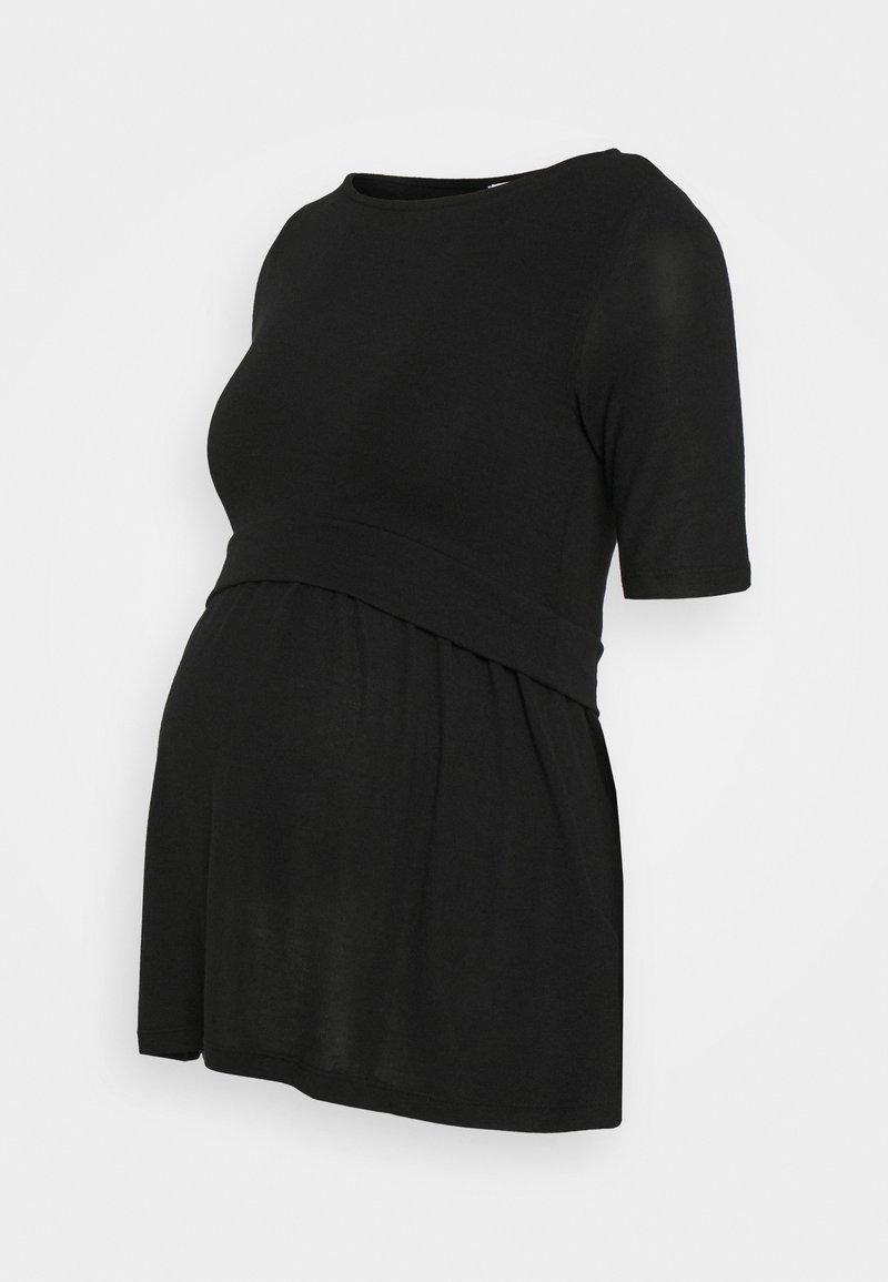 MAMALICIOUS - MLANABEL JUNE - T-shirts - black