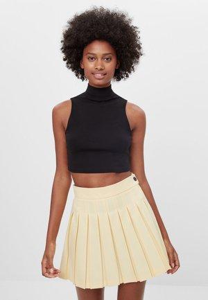 MIT KNÖPFEN  - Zavinovací sukně - yellow