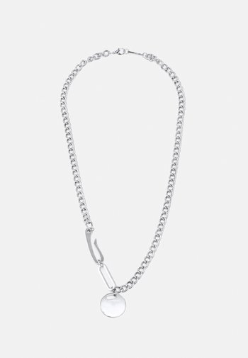 TRIBAL TECH CLASPS NECKLACE - Necklace - silver-coloured