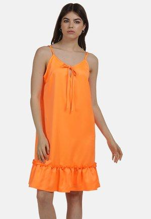 Sukienka letnia - neon orange