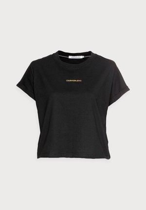 DEGRADE BACK LOGO TEE - T-shirt print - black