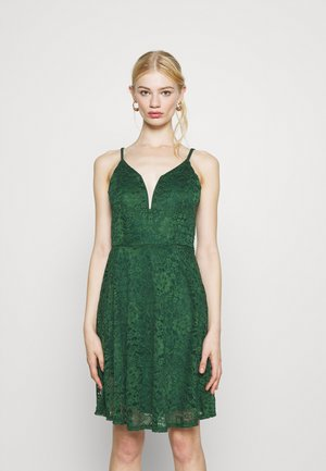 CAMRYN STRAPPY SKATER DRESS - Day dress - forest green