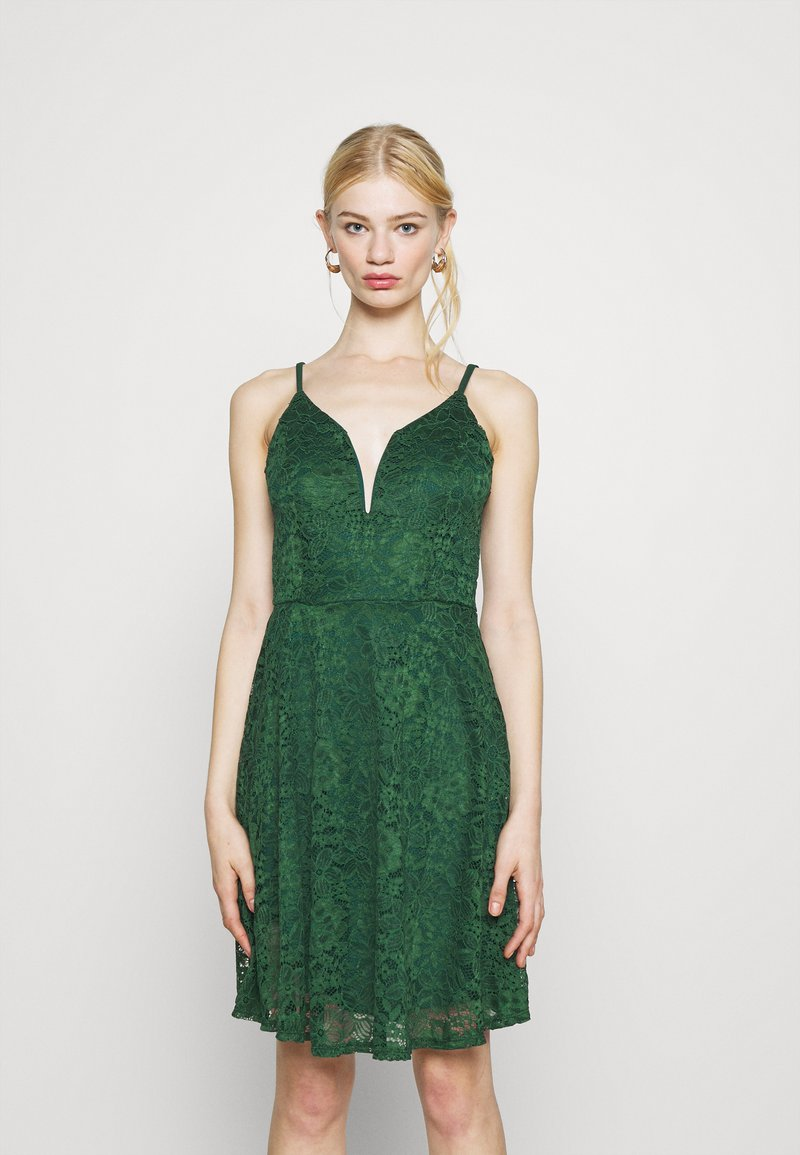 WAL G. - CAMRYN STRAPPY SKATER DRESS - Cocktail dress / Party dress - forest green