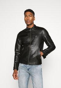 Jack & Jones PREMIUM - JPRBLUMAX JACKET - Faux leather jacket - black - 0