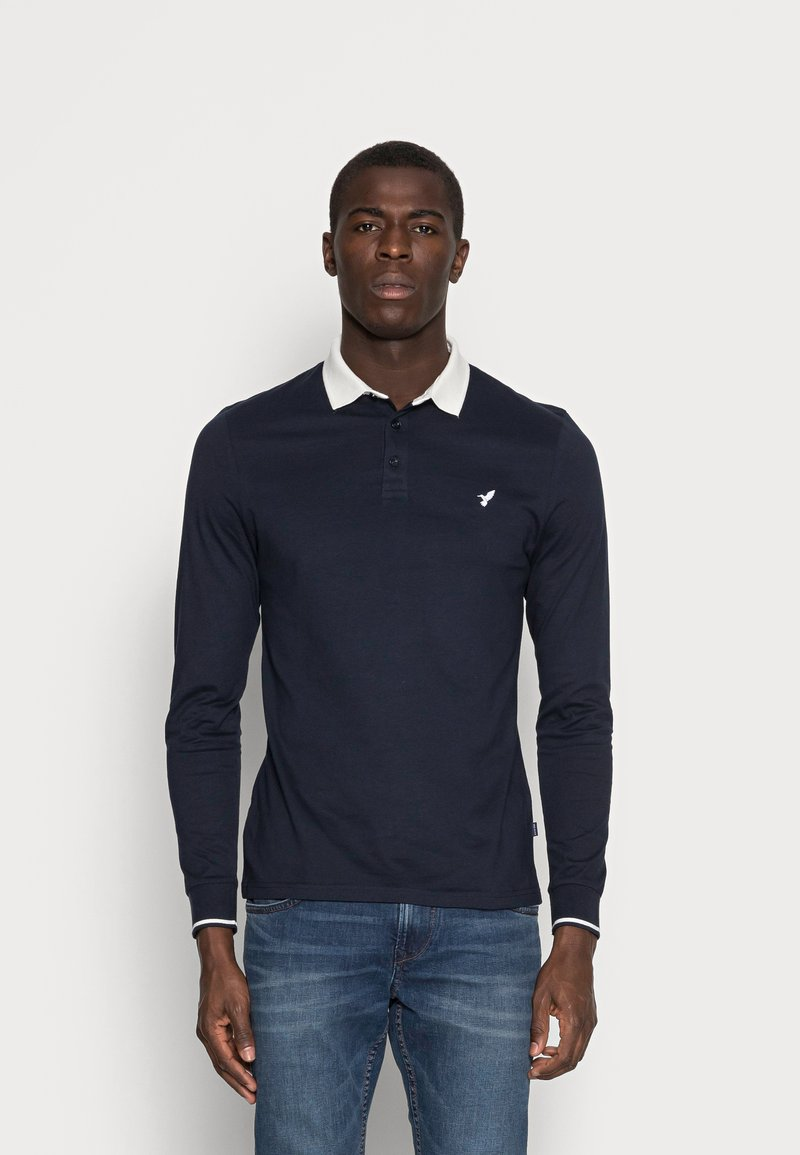 Pier One - MUSCLE FIT - Polo - dark blue