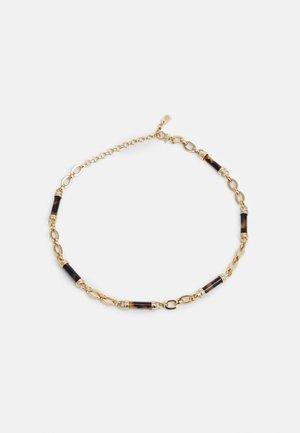 BARREL FRONTAL - Necklace - gold/tort