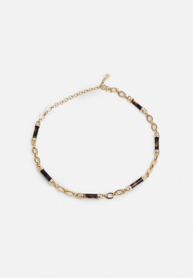 BARREL FRONTAL - Necklace - gold/tort