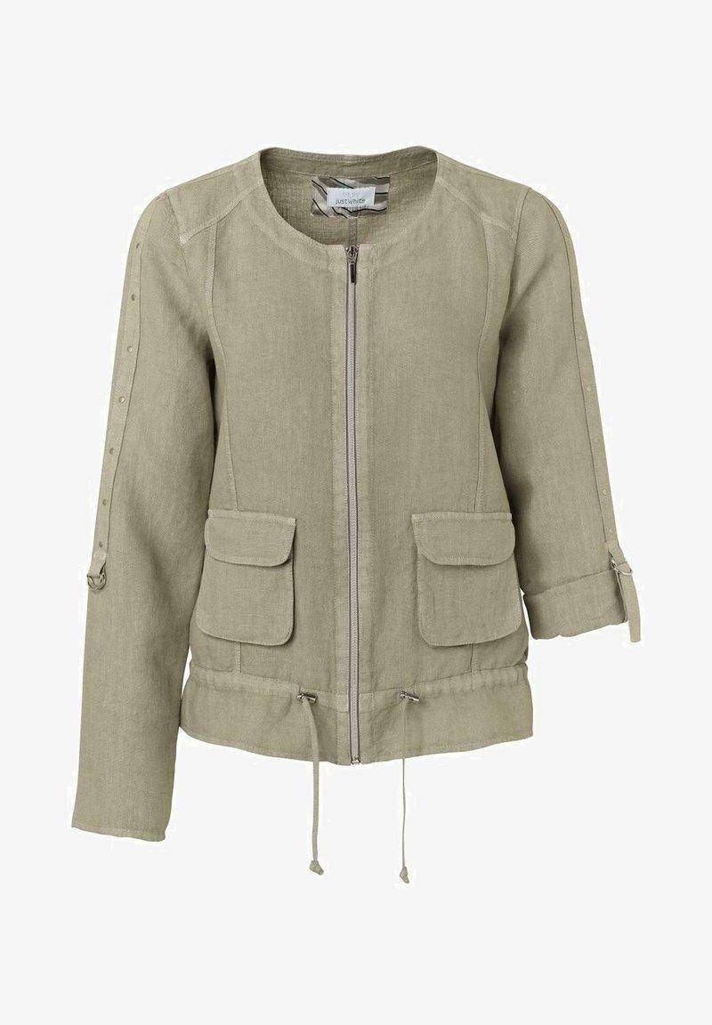 JUST WHITE - Summer jacket - khaki