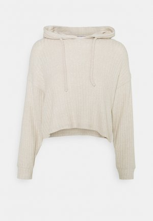 NEW COSY BRUSHED HOODIE - Jumper - stone