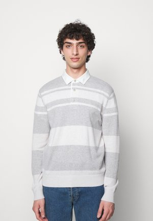 STRIPED RUGBY - Pullover - grey