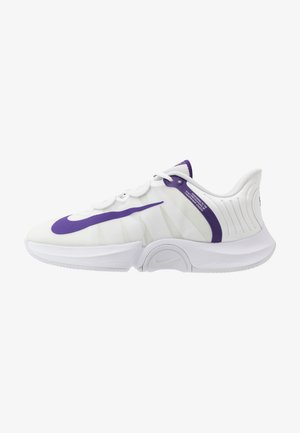 COURT AIR ZOOM GP TURBO - Tennissko til multicourt - white/court purple/geyser grey
