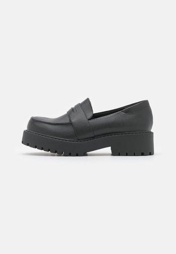 VEGAN JUNE LOAFER - Slippers - black dark