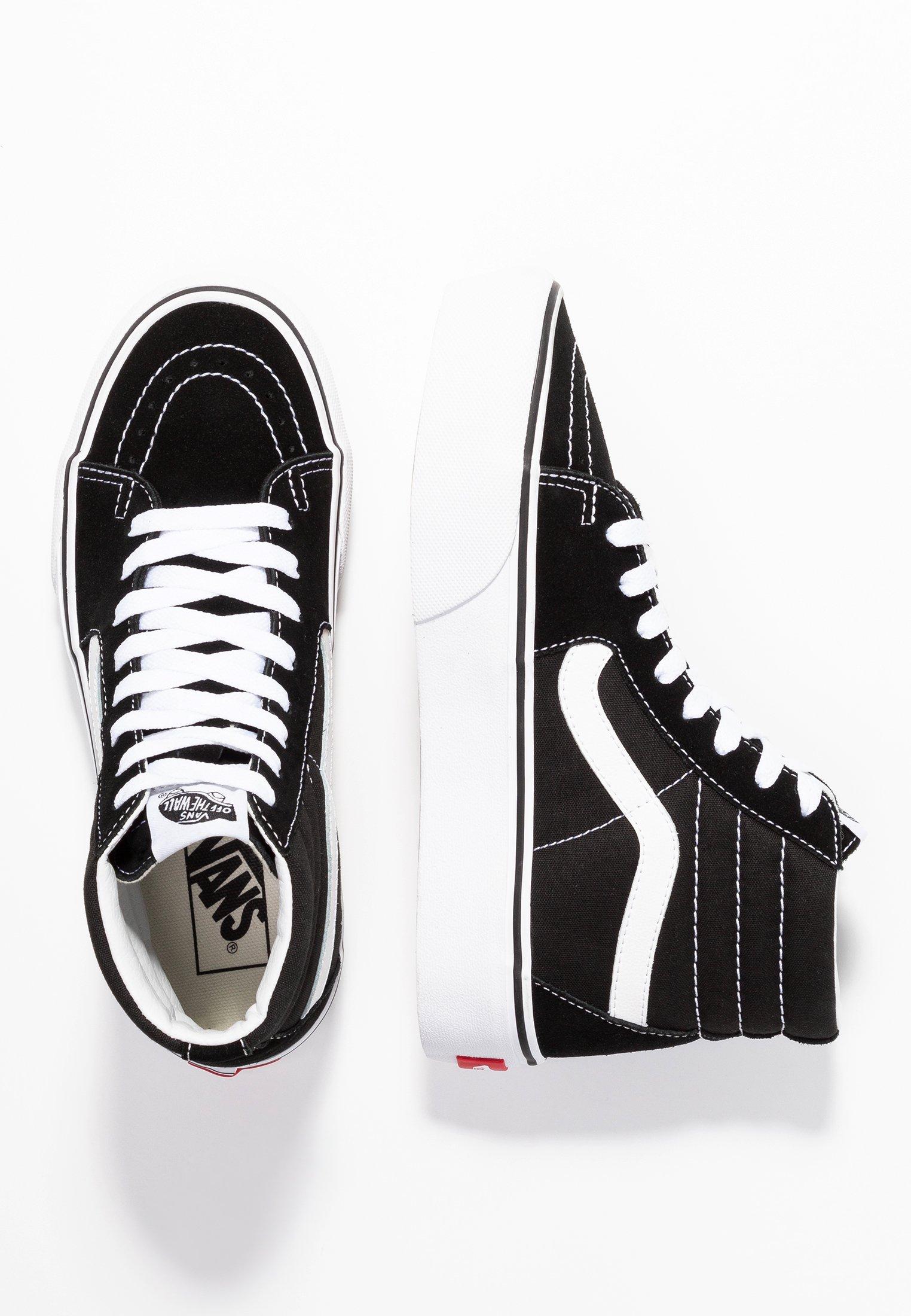 SK8 PLATFORM 2.0 - Baskets montantes - black/true white
