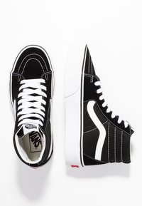 Vans - SK8 PLATFORM 2.0 - Sneakersy wysokie - black/true white - 3