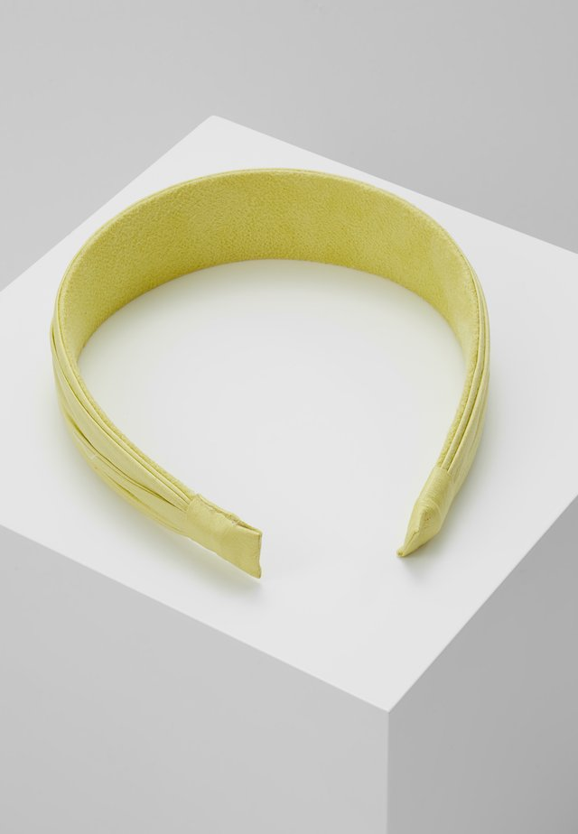 PLEATED ALICE BAND - Hair styling accessory - yellow