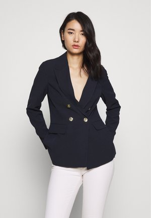 GLOSSY DOUBLE BREASTED - Blazer - navy blue