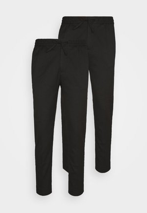 2 PACK - Trousers - black