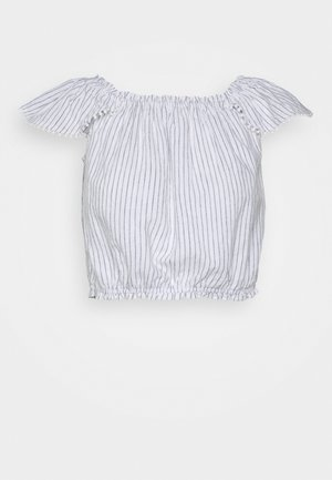 PRETTY CINCH - Blouse - blue/white