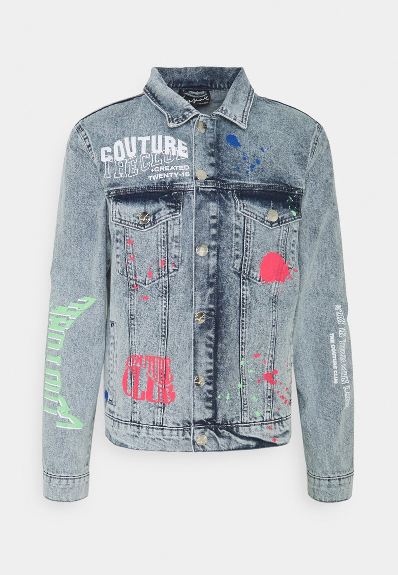 The Couture Club - NEON GRAFITTI REGULAR FIT JACKET - Jeansjacka - washed blue