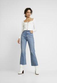 Miss Selfridge - SKINNY  - Long sleeved top - white - 1
