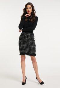 faina - Pouzdrová sukně - schwarz - 1