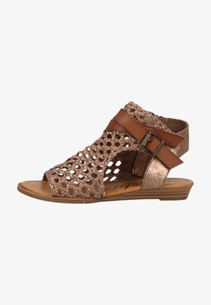 Wedge sandals - mars woven draped micro/brn dy
