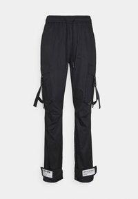Sixth June - STRAP PANTS - Pantaloni cargo - black - 0