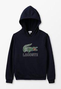 Lacoste - BOY LOGO HOODIE - Hættetrøjer - marine - 0