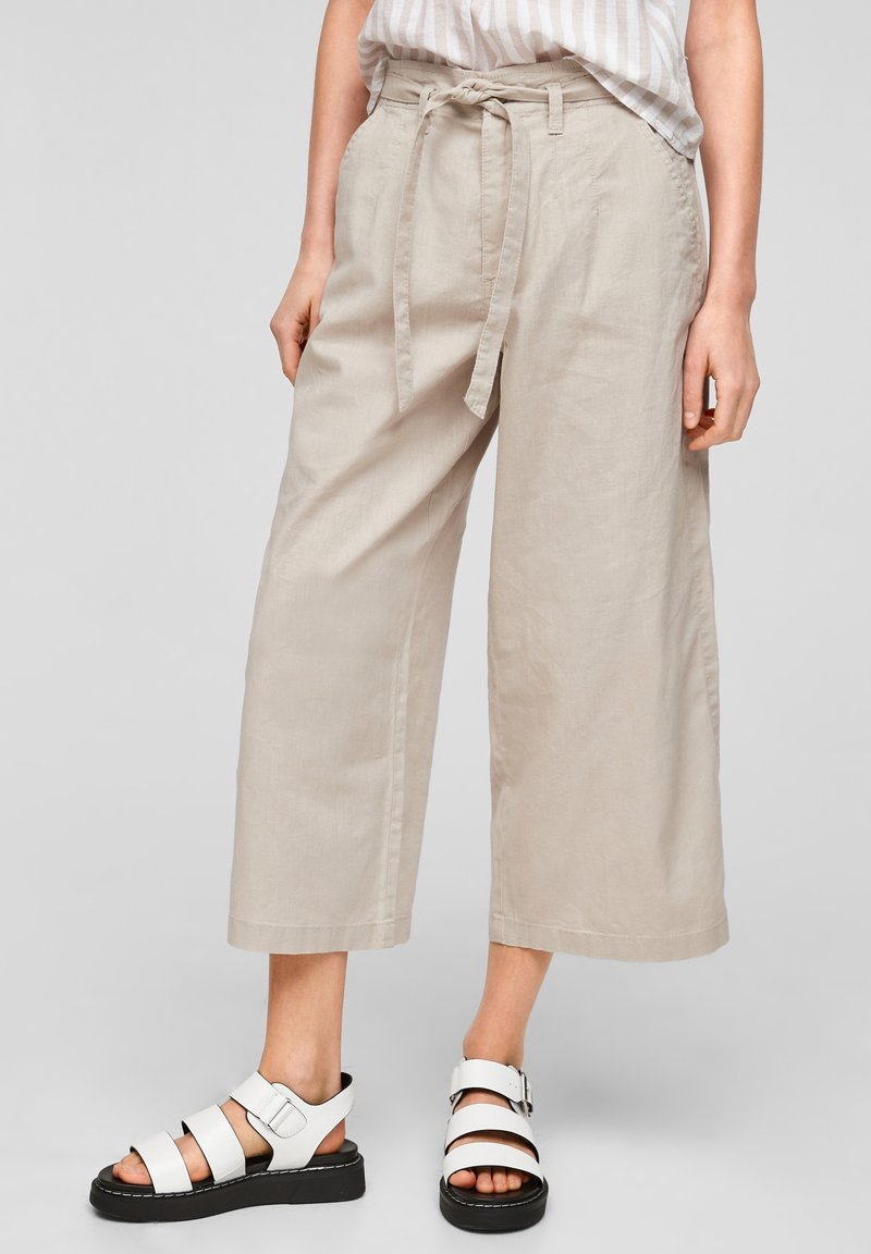 QS by s.Oliver - Trousers - beige