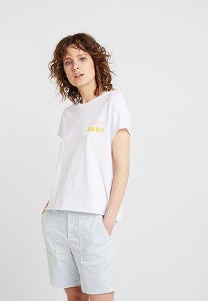 LOOSE TEE - Print T-shirt - white