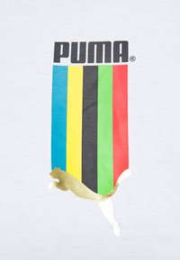 Puma - GRAPHIC TEE - Print T-shirt - white gold - 7