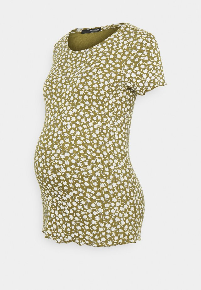 TEE FLOWER - T-shirts med print - olive