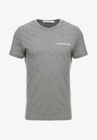 Calvin Klein Jeans - SMALL INSTIT LOGO CHEST TEE - Basic T-shirt - grey - 3
