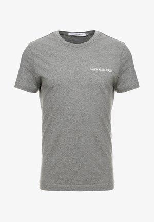 SMALL INSTIT LOGO CHEST TEE - T-shirt - bas - grey