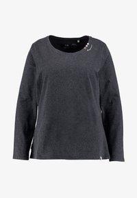 Ragwear Plus - FLORAH LONG SLEEVE TEE - Topper langermet - black - 4