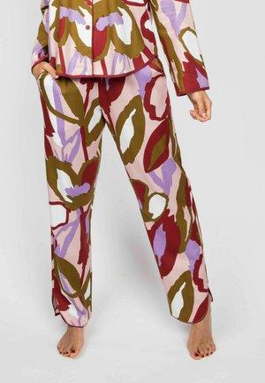 Pyjamasbyxor - peach floral