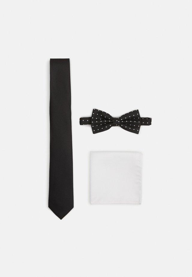 SET - Lommetørklæde - black