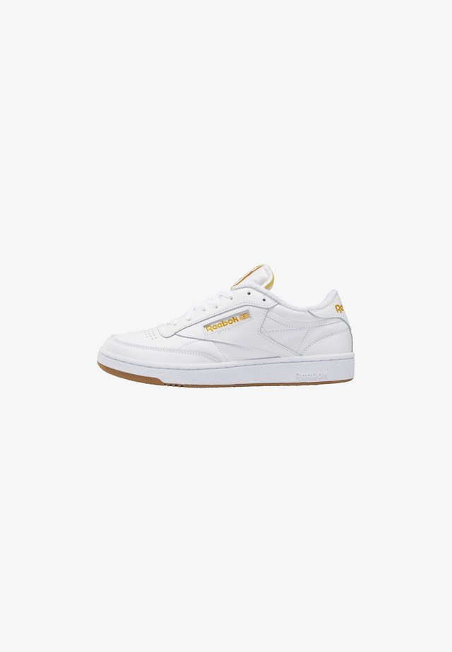 CLUB UNISEX - Matalavartiset tennarit - white/pale yellow/bright ochre