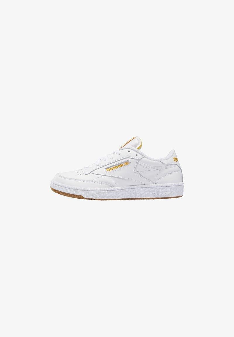 Reebok Classic - CLUB C 85 UNISEX - Sneakers basse - white/pale yellow/bright ochre