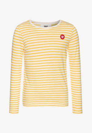 KIM KIDS LONG SLEEVE - Langærmede T-shirts - offwhite/yellow