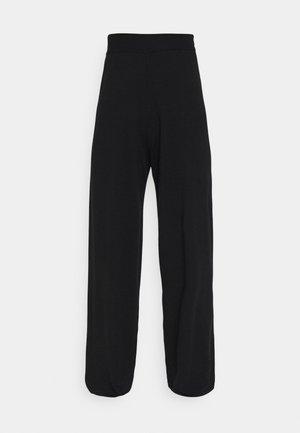 ONLCOZY WIDE PANTS - Trousers - black