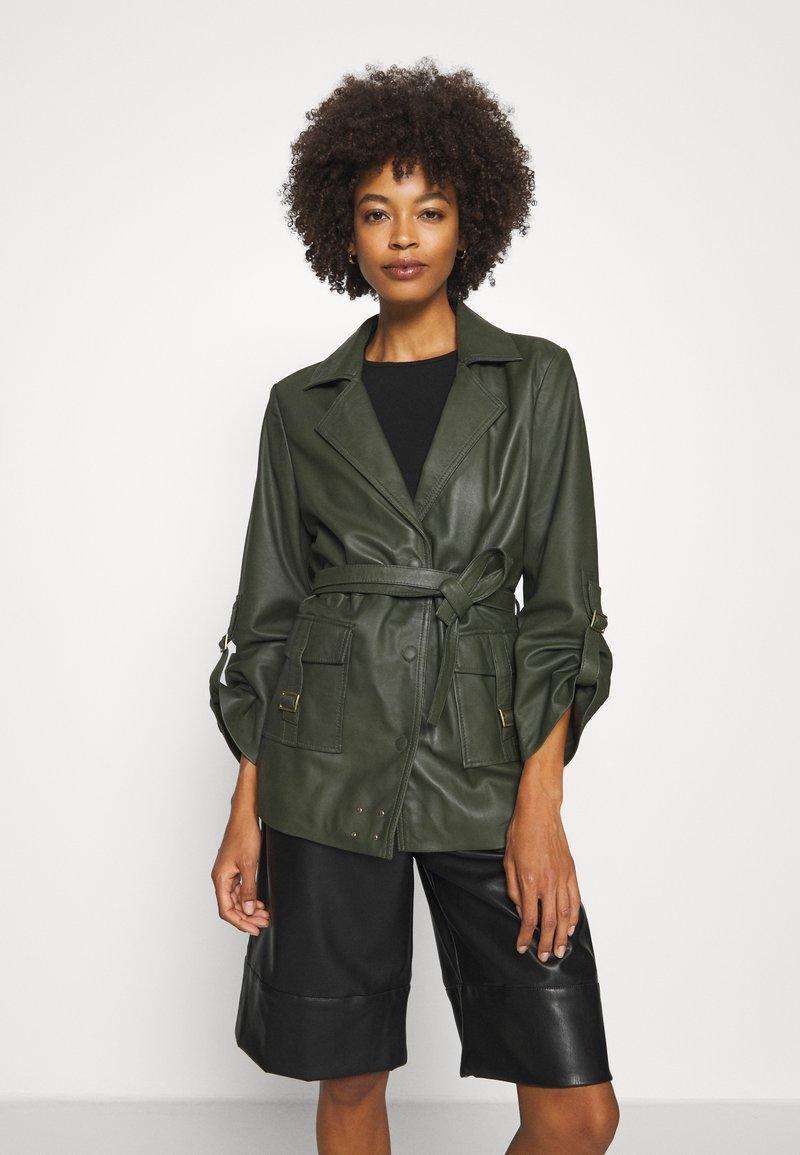 Ibana - MAE - Leather jacket - green
