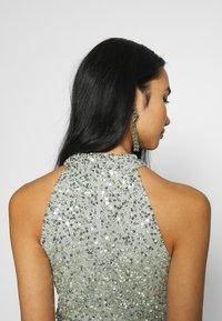 Lace & Beads - AVALON WRAP MAXI - Společenské šaty - sage - 3