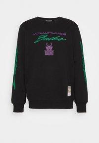 Mitchell & Ness - NBA MILWAUKEE BUCKS FLAMES RACING CREWNECK - Sweatshirt - black - 3