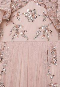 Maya Deluxe - V NECK RUFFLE EMBELLISHED DRESS - Společenské šaty - frosted pink - 2