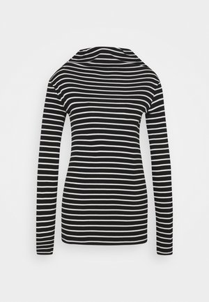 LONGSLEEVE TURTLENECK STRIPED - Long sleeved top - multi/black